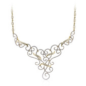 18K Diamond Gold Necklace