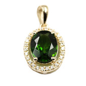 9K Russian Diopside Gold Pendant