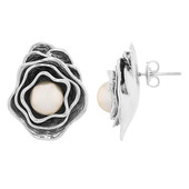 Ming Pearl Silver Earrings (MONOSONO COLLECTION)