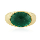 Emerald Colour Beryl Silver Ring