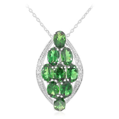 Imperial Chrome Tourmaline Silver Necklace