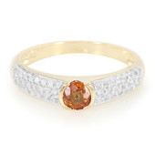 9K Orange Sapphire Gold Ring