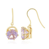 9K Lavender Quartz Gold Earrings (PHANTASIA)
