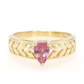 18K Padparadscha Sapphire Gold Ring