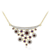 9K Mozambique Garnet Gold Necklace