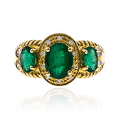 14K AAA Zambian Emerald Gold Ring (CIRARI)