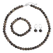 Smoky Quartz Silver Set