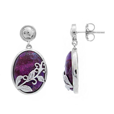 Kingman Purple Mojave Turquoise Silver Earrings