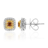 18K SI Orange Diamond Gold Earrings (CIRARI)