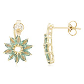 9K Brazilian Alexandrite Gold Earrings