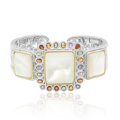 Mother of Pearl Silver Bangle (Dallas Prince Designs)