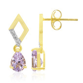 Rose de France Amethyst Silver Earrings