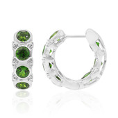Russian Diopside Silver Earrings (Remy Rotenier)