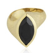 Black Spinel Silver Ring (MONOSONO COLLECTION)