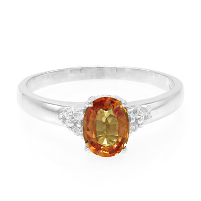 Sunset Ruby Silver Ring