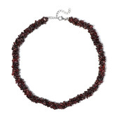 Indian Garnet Silver Necklace