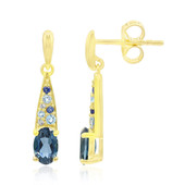 9K London Blue Topaz Gold Earrings