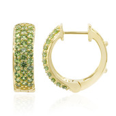 9K Russian Demantoid Gold Earrings