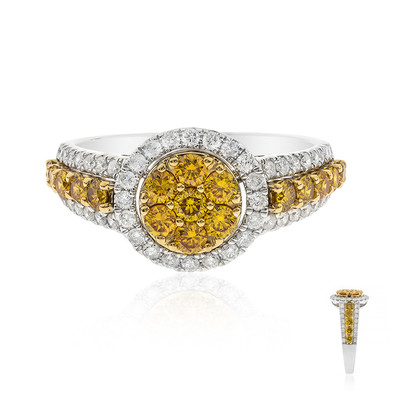 14K SI1 Orange Diamond Gold Ring (CIRARI)