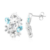 Petalite Silver Earrings