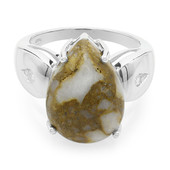 Dinosaur Bone Silver Ring