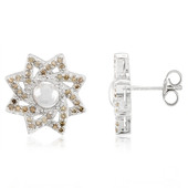 Chocolate Diamond Silver Earrings (Cavill)