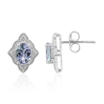Unheated Tanzanite Silver Earrings