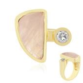 Rose Quartz Silver Ring (MONOSONO COLLECTION)