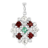 Mixed Gemstones Silver Pendant