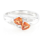 Hessonite Garnet Silver Ring (Cavill)