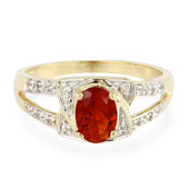 9K Mexican Fire Opal Gold Ring