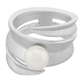 Akoya Pearl Silver Ring (MONOSONO COLLECTION)