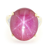 18K Unheated Star Ruby Gold Ring