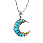 Sleeping Beauty Turquoise Silver Necklace (Dallas Prince Designs)
