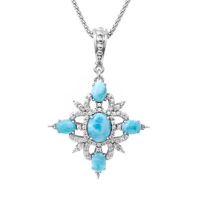 Larimar Silver Necklace (Dallas Prince Designs)