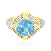 9K Swiss Blue Topaz Gold Ring (Remy Rotenier)