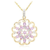 18K Unheated Ceylon Purple Sapphire Gold Necklace
