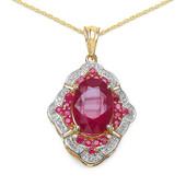 Mozambique Ruby Silver Necklace