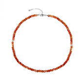 Carnelian Silver Necklace