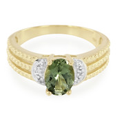 9K Namibian Green Tourmaline Gold Ring