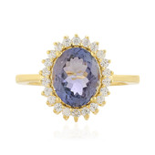 Unheated Tanzanite Silver Ring