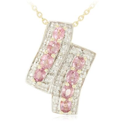 10K Unheated Padparadscha Sapphire Gold Necklace (Molloy)