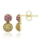 9K Yellow Sapphire Gold Earrings