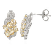 Imperial Topaz Silver Earrings