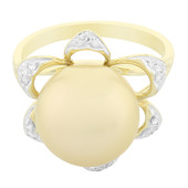 9K Golden South Sea Pearl Gold Ring