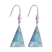 Larimar Silver Earrings