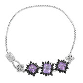 Rose de France Amethyst Silver Bracelet (Dallas Prince Designs)