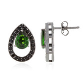 Russian Diopside Silver Earrings (Memories by Vincent)