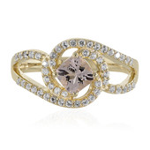 9K Morganite Gold Ring (Adela Gold)