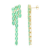 18K AAA Zambian Emerald Gold Earrings